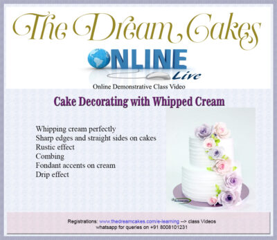 Decorating Whipped Cream Cakes