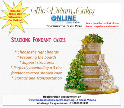 Stacking Tiered Fondant Cakes