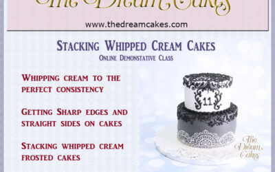 Stacking Whipped Cream Cakes