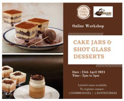 Eggfree Cake Jars and Shot glass desserts with Jignya Thakkar